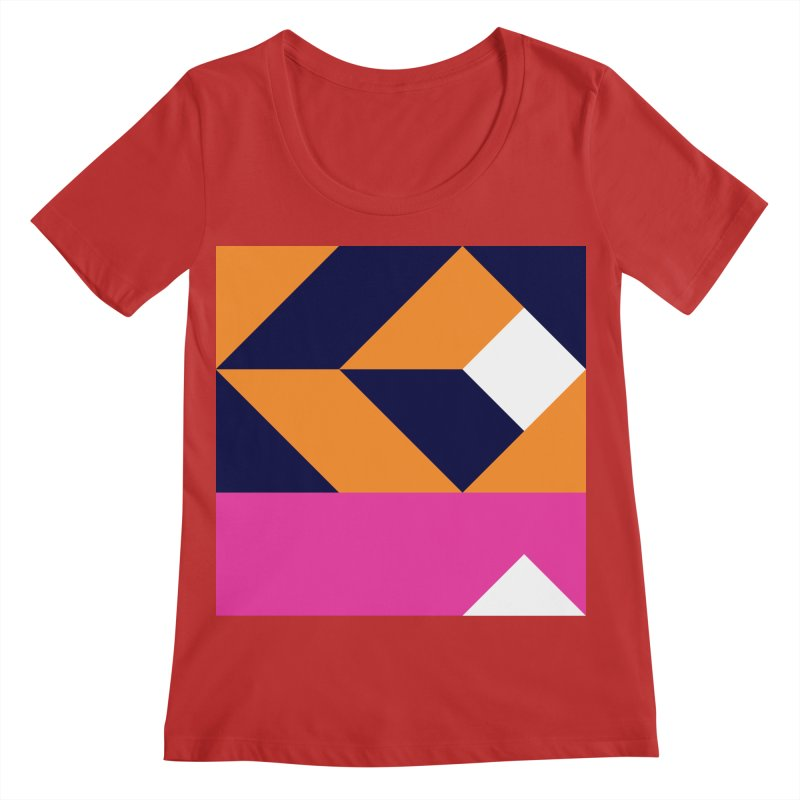 Geometric Design Series 4, Poster 6 (Version 2) Women's Regular Scoop Neck by Madeleine Hettich Design & Illustration