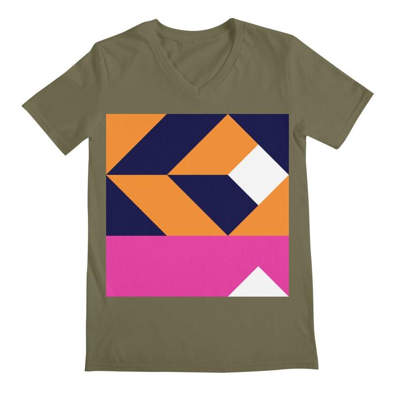 Geometric Design Series 4, Poster 6 (Version 2) Men's Regular V-Neck by Madeleine Hettich Design & Illustration