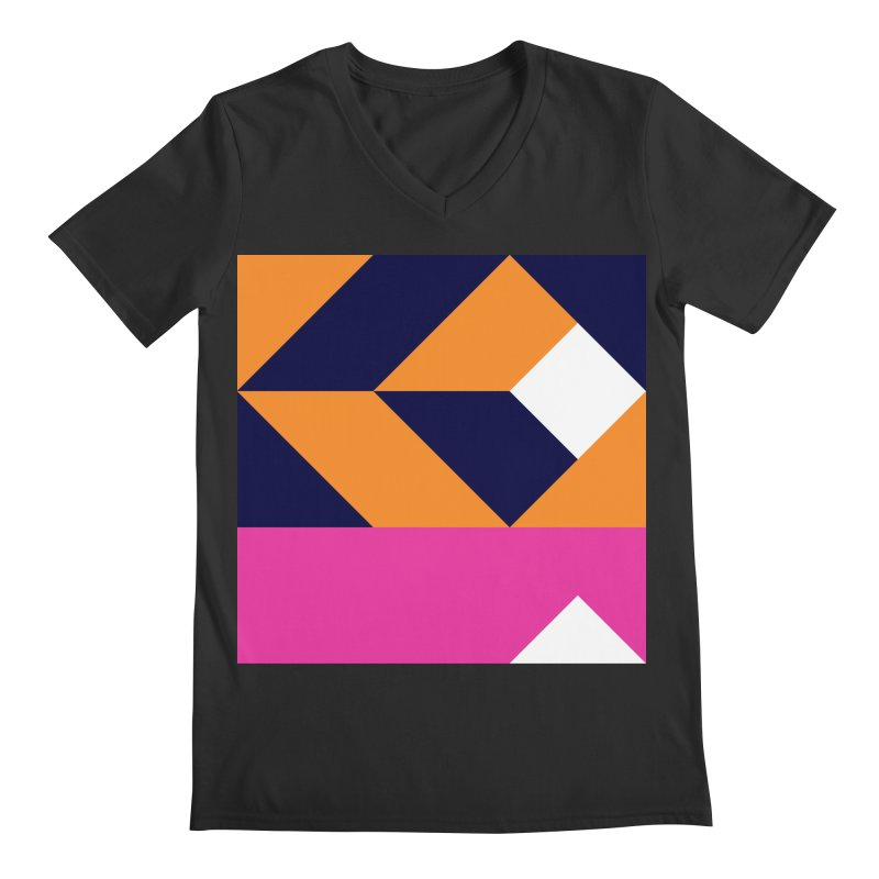 Geometric Design Series 4, Poster 6 (Version 2) Men's Regular V-Neck by Madeleine Hettich Design & Illustration