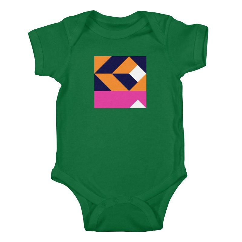Geometric Design Series 4, Poster 6 (Version 2) Kids Baby Bodysuit by Madeleine Hettich Design & Illustration