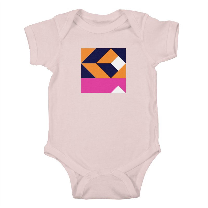 Geometric Design Series 4, Poster 6 (Version 2) Kids Baby Bodysuit by Madeleine Hettich Design & Illustration