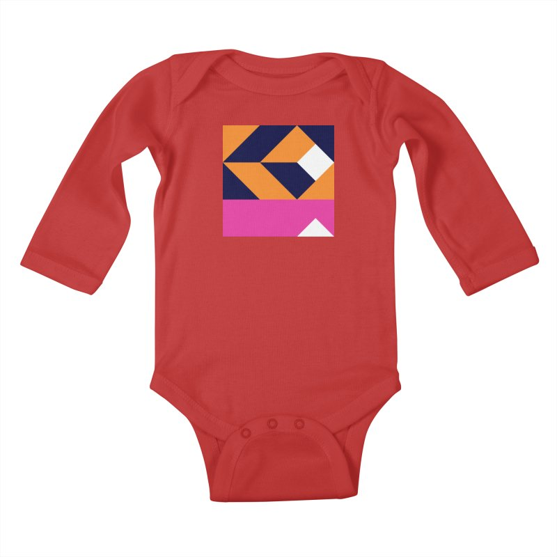 Geometric Design Series 4, Poster 6 (Version 2) Kids Baby Longsleeve Bodysuit by Madeleine Hettich Design & Illustration