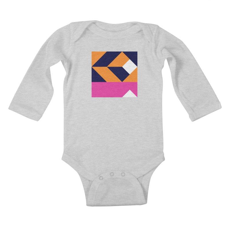 Geometric Design Series 4, Poster 6 (Version 2) Kids Baby Longsleeve Bodysuit by Madeleine Hettich Design & Illustration