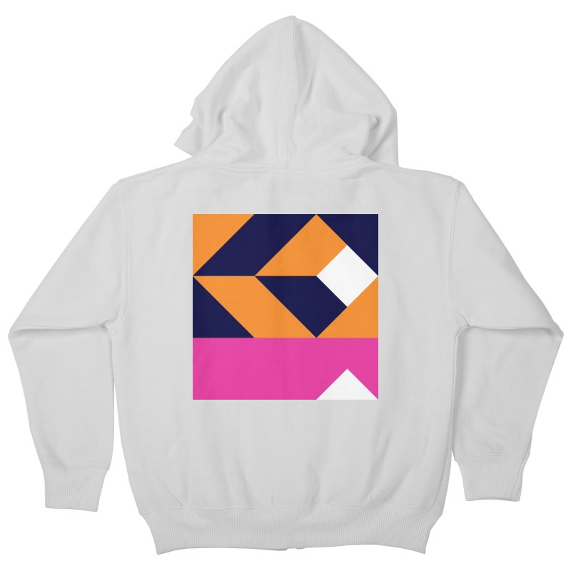 Geometric Design Series 4, Poster 6 (Version 2) Kids Zip-Up Hoody by Madeleine Hettich Design & Illustration