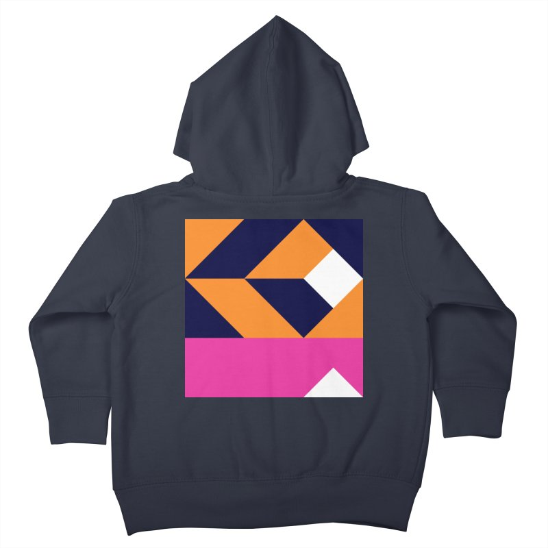 Geometric Design Series 4, Poster 6 (Version 2) Kids Toddler Zip-Up Hoody by Madeleine Hettich Design & Illustration