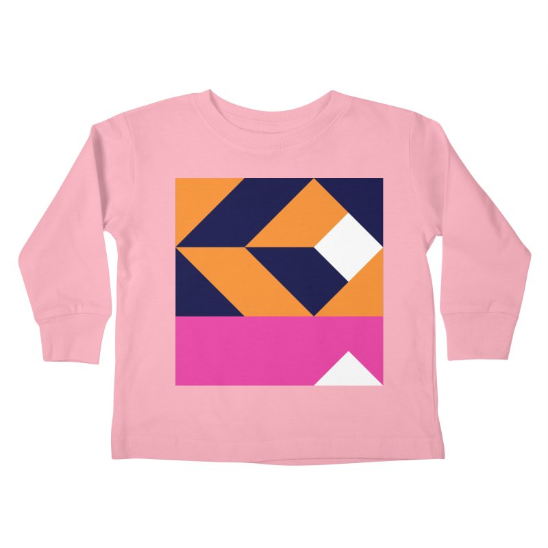 Geometric Design Series 4, Poster 6 (Version 2) Kids Toddler Longsleeve T-Shirt by Madeleine Hettich Design & Illustration
