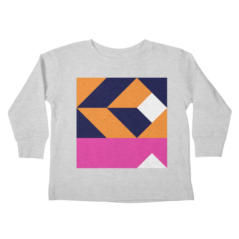 Geometric Design Series 4, Poster 6 (Version 2) Kids Toddler Longsleeve T-Shirt by Madeleine Hettich Design & Illustration