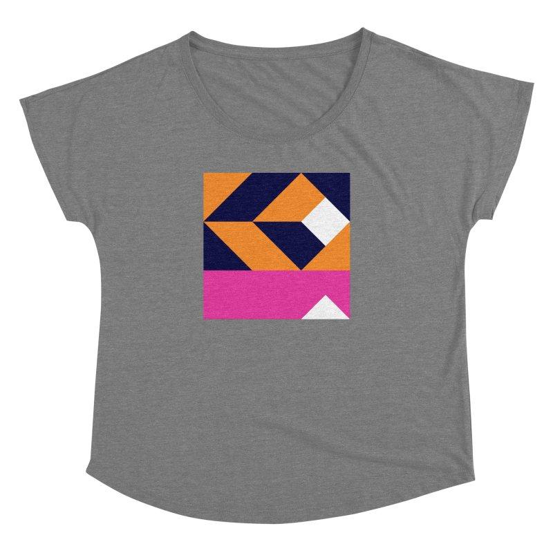 Geometric Design Series 4, Poster 6 (Version 2) Women's Dolman Scoop Neck by Madeleine Hettich Design & Illustration
