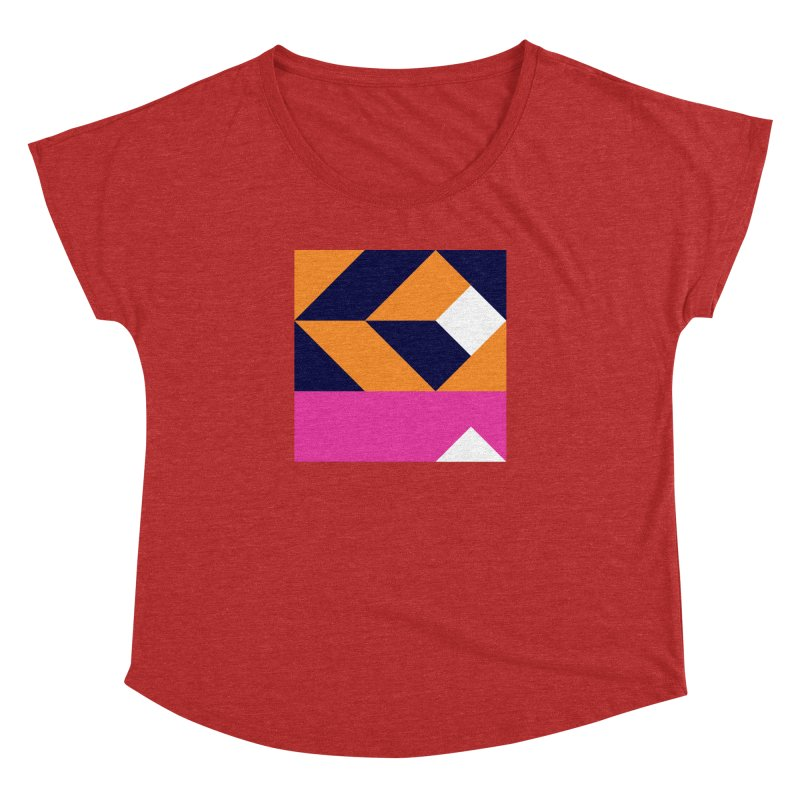 Geometric Design Series 4, Poster 6 (Version 2) Women's Dolman by Madeleine Hettich Design & Illustration