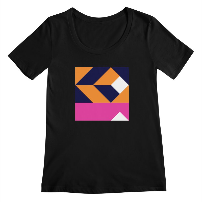 Geometric Design Series 4, Poster 6 (Version 2) Women's Scoopneck by Madeleine Hettich Design & Illustration