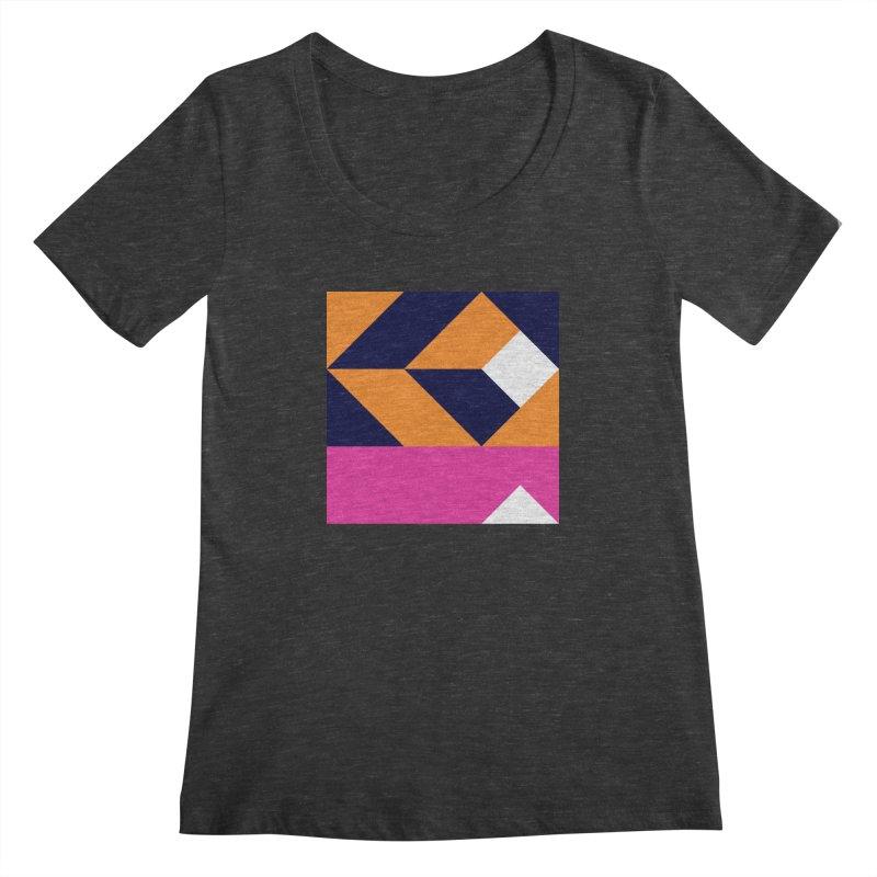 Geometric Design Series 4, Poster 6 (Version 2) Women's Regular Scoop Neck by Madeleine Hettich Design & Illustration