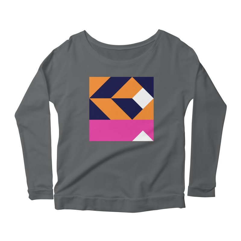 Geometric Design Series 4, Poster 6 (Version 2) Women's Scoop Neck Longsleeve T-Shirt by Madeleine Hettich Design & Illustration
