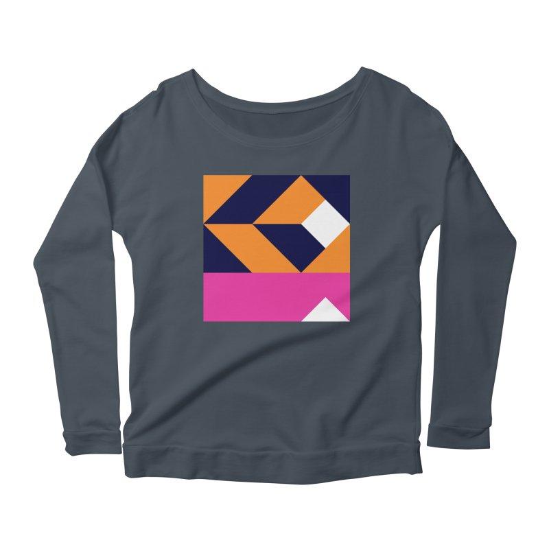 Geometric Design Series 4, Poster 6 (Version 2) Women's Longsleeve T-Shirt by Madeleine Hettich Design & Illustration