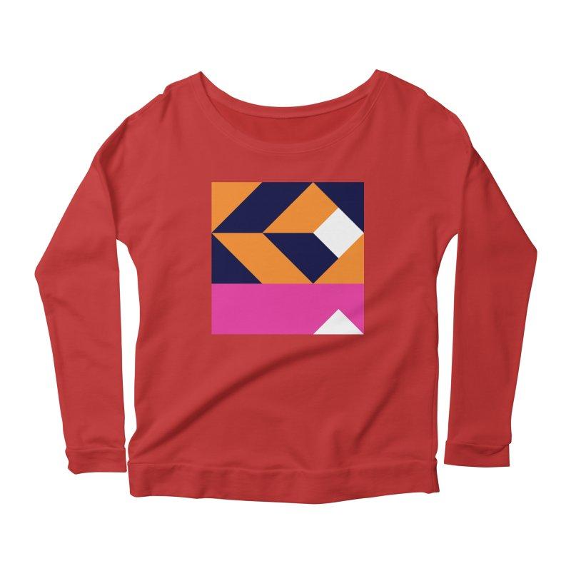 Geometric Design Series 4, Poster 6 (Version 2) Women's Scoop Neck Longsleeve T-Shirt by Madeleine Hettich Design & Illustration