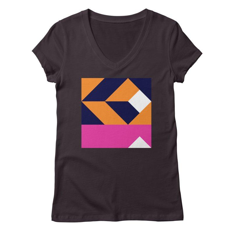 Geometric Design Series 4, Poster 6 (Version 2) Women's V-Neck by Madeleine Hettich Design & Illustration