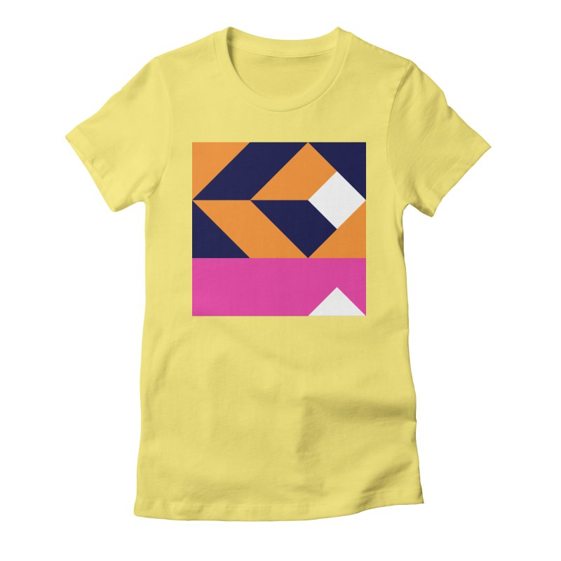 Geometric Design Series 4, Poster 6 (Version 2) Women's Fitted T-Shirt by Madeleine Hettich Design & Illustration
