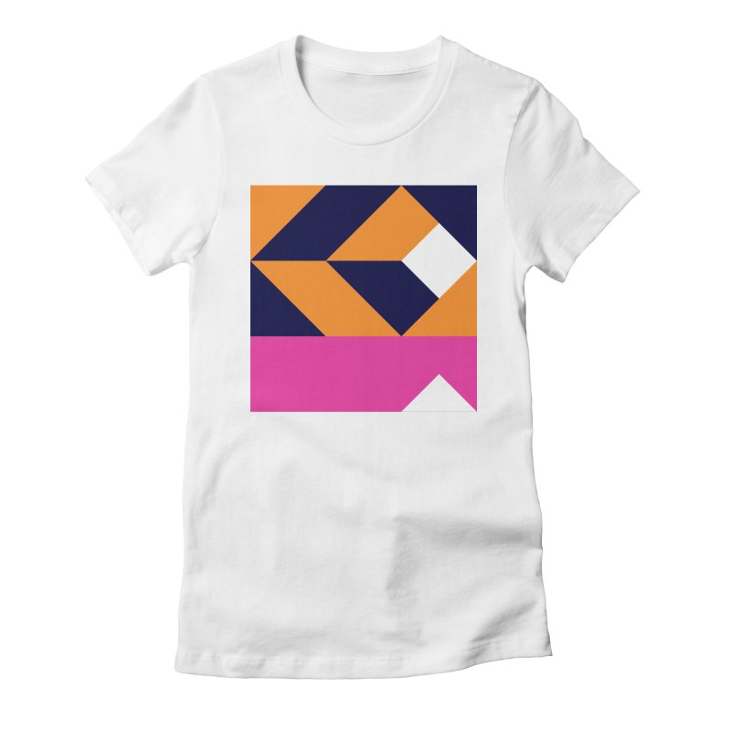 Geometric Design Series 4, Poster 6 (Version 2) Women's Fitted T-Shirt by Madeleine Hettich Design & Illustration