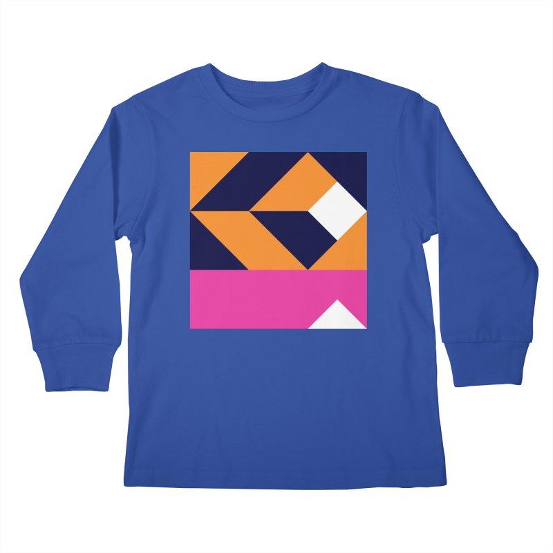 Geometric Design Series 4, Poster 6 (Version 2) Kids Longsleeve T-Shirt by Madeleine Hettich Design & Illustration