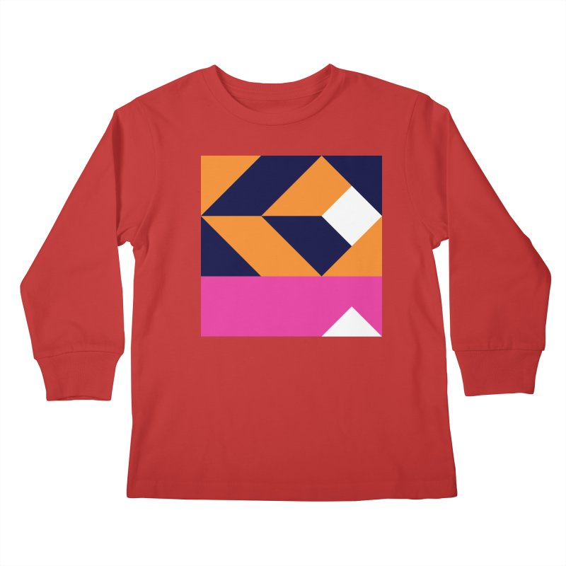 Geometric Design Series 4, Poster 6 (Version 2) Kids Longsleeve T-Shirt by Madeleine Hettich Design & Illustration
