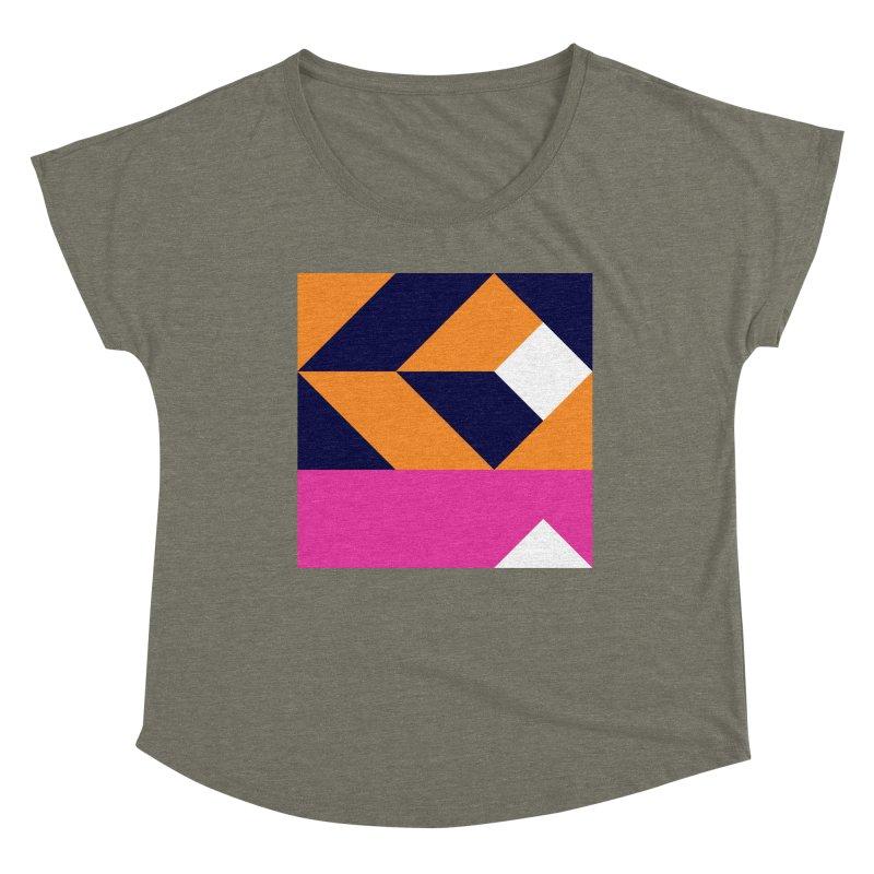 Geometric Design Series 4, Poster 6 (Version 2) Women's Scoop Neck by Madeleine Hettich Design & Illustration