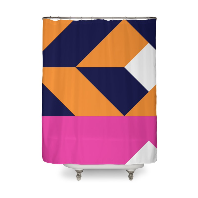 Geometric Design Series 4, Poster 6 (Version 2) Home Shower Curtain by Madeleine Hettich Design & Illustration