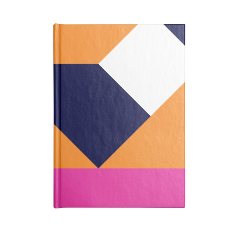 Geometric Design Series 4, Poster 6 (Version 2) Accessories Lined Journal Notebook by Madeleine Hettich Design & Illustration