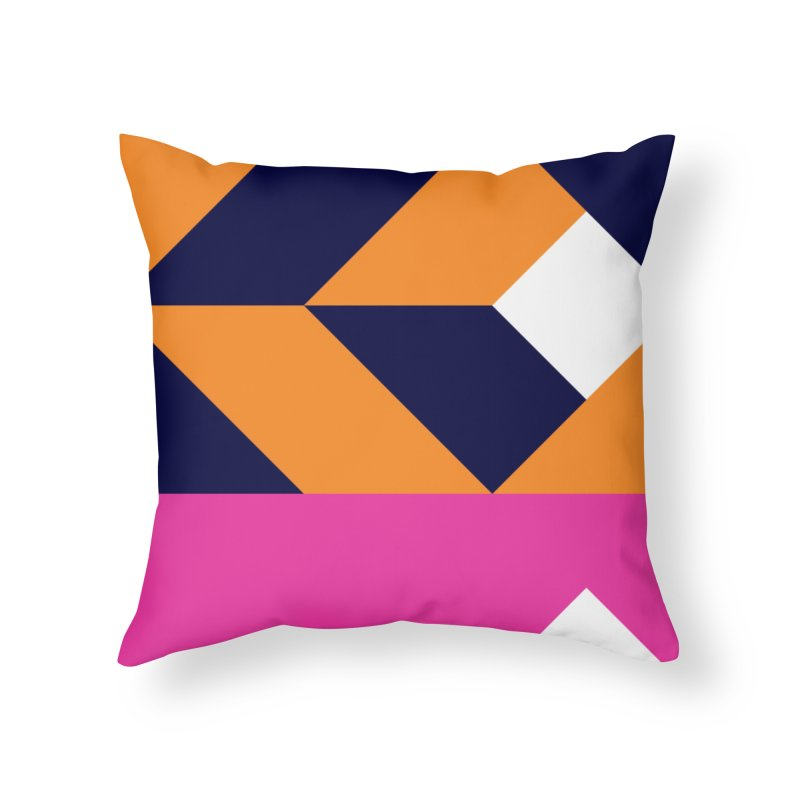 Geometric Design Series 4, Poster 6 (Version 2) Home Throw Pillow by Madeleine Hettich Design & Illustration
