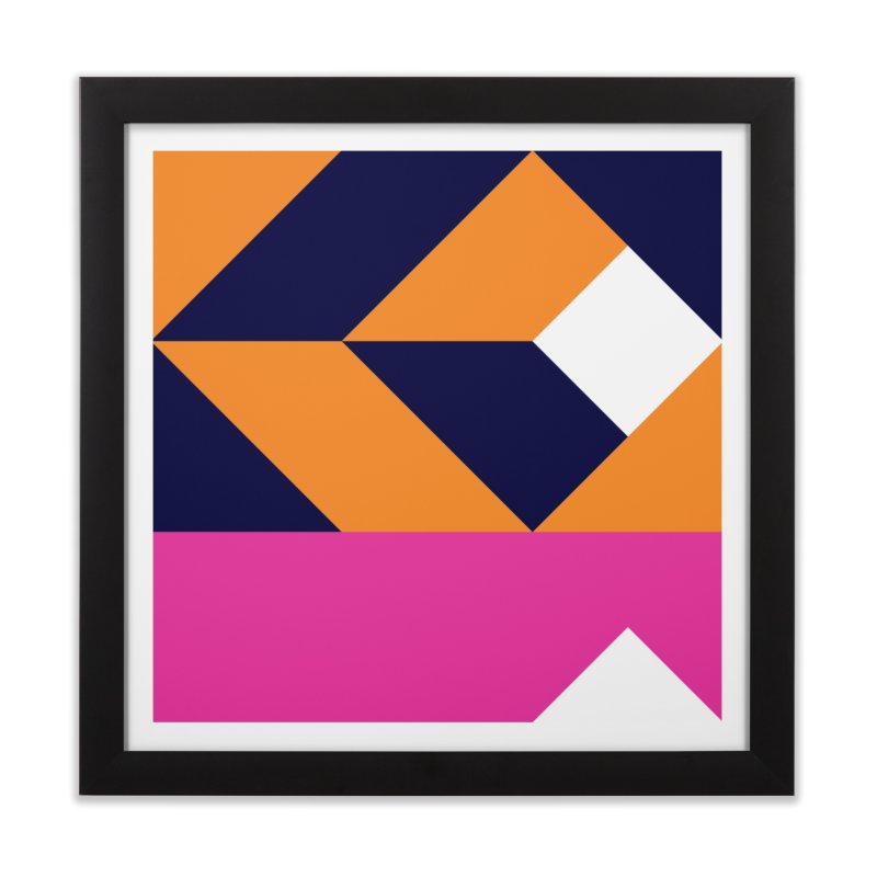 Geometric Design Series 4, Poster 6 (Version 2) Home Framed Fine Art Print by Madeleine Hettich Design & Illustration