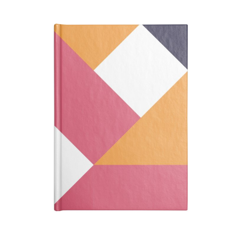 Geometric Design Series 4, Poster 5 Accessories Lined Journal Notebook by Madeleine Hettich Design & Illustration