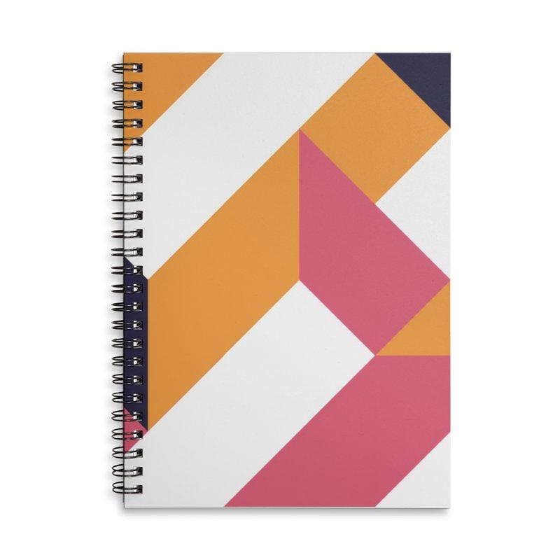 Geometric Design Series 4, Poster 5 Accessories Lined Spiral Notebook by Madeleine Hettich Design & Illustration