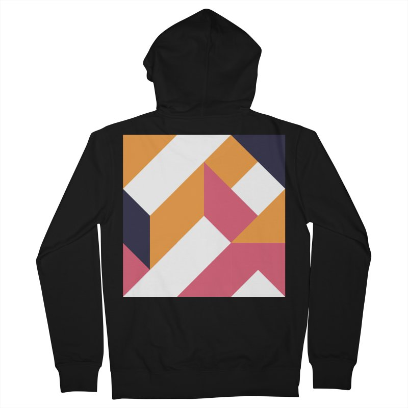 Geometric Design Series 4, Poster 5 Men's French Terry Zip-Up Hoody by Madeleine Hettich Design & Illustration