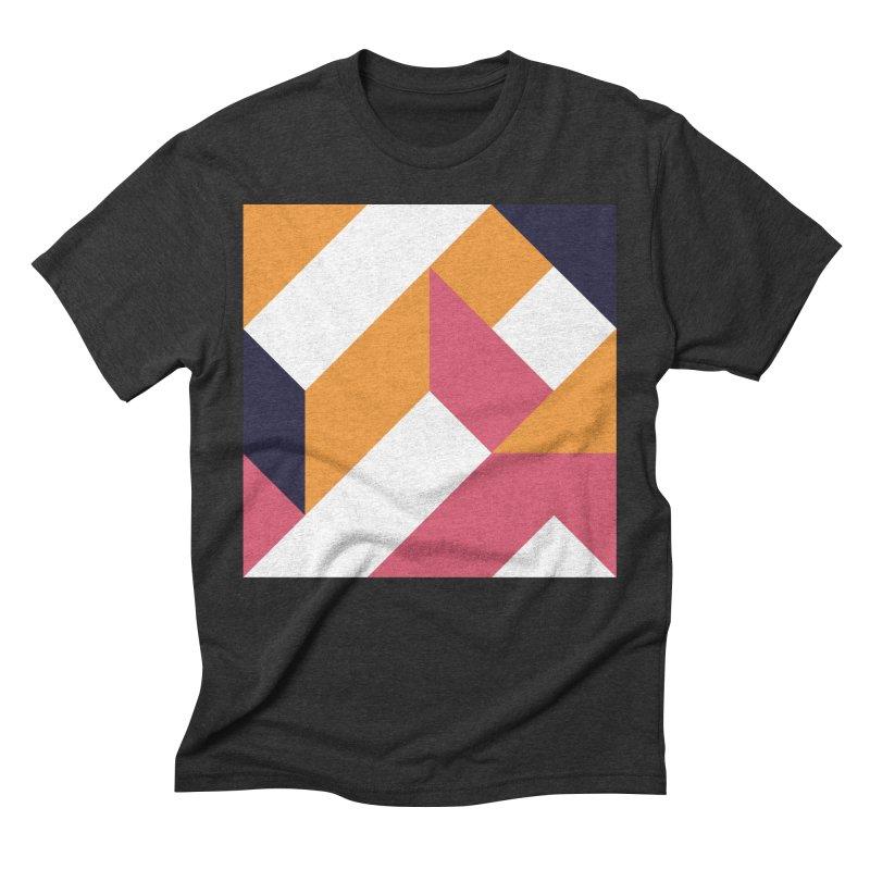 Geometric Design Series 4, Poster 5 Men's Triblend T-Shirt by Madeleine Hettich Design & Illustration