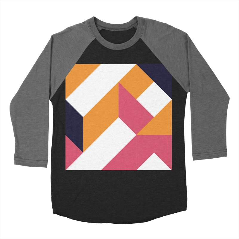 Geometric Design Series 4, Poster 5 Women's Baseball Triblend Longsleeve T-Shirt by Madeleine Hettich Design & Illustration