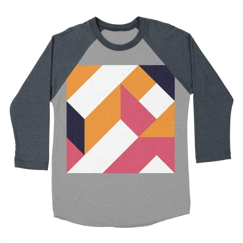 Geometric Design Series 4, Poster 5 Men's Baseball Triblend T-Shirt by Madeleine Hettich Design & Illustration