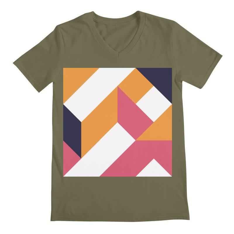 Geometric Design Series 4, Poster 5 Men's Regular V-Neck by Madeleine Hettich Design & Illustration