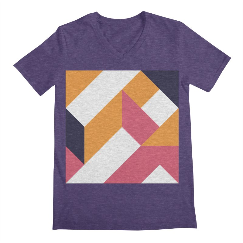 Geometric Design Series 4, Poster 5 Men's Regular V-Neck by Madeleine Hettich Design & Illustration