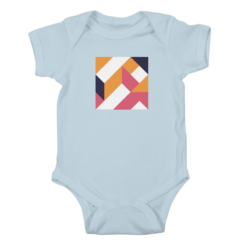 Geometric Design Series 4, Poster 5 Kids Baby Bodysuit by Madeleine Hettich Design & Illustration