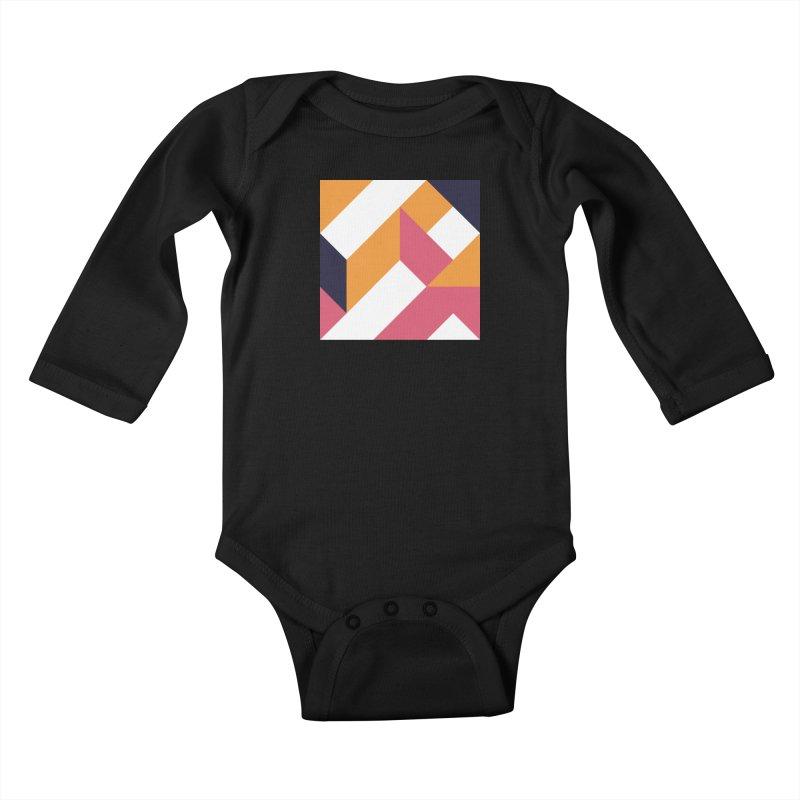 Geometric Design Series 4, Poster 5 Kids Baby Longsleeve Bodysuit by Madeleine Hettich Design & Illustration
