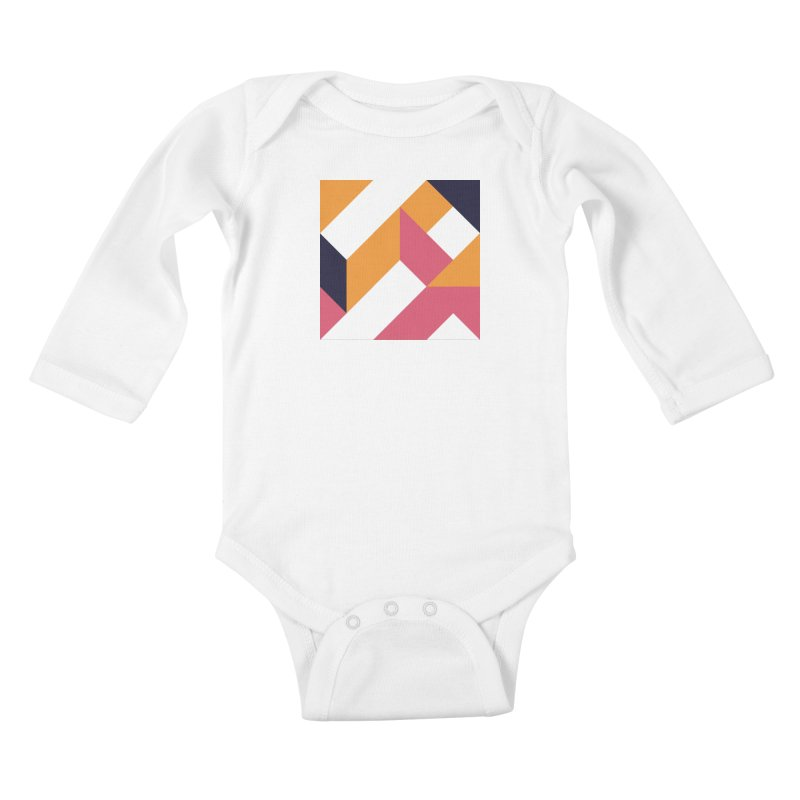Geometric Design Series 4, Poster 5 Kids Baby Longsleeve Bodysuit by Madeleine Hettich Design & Illustration