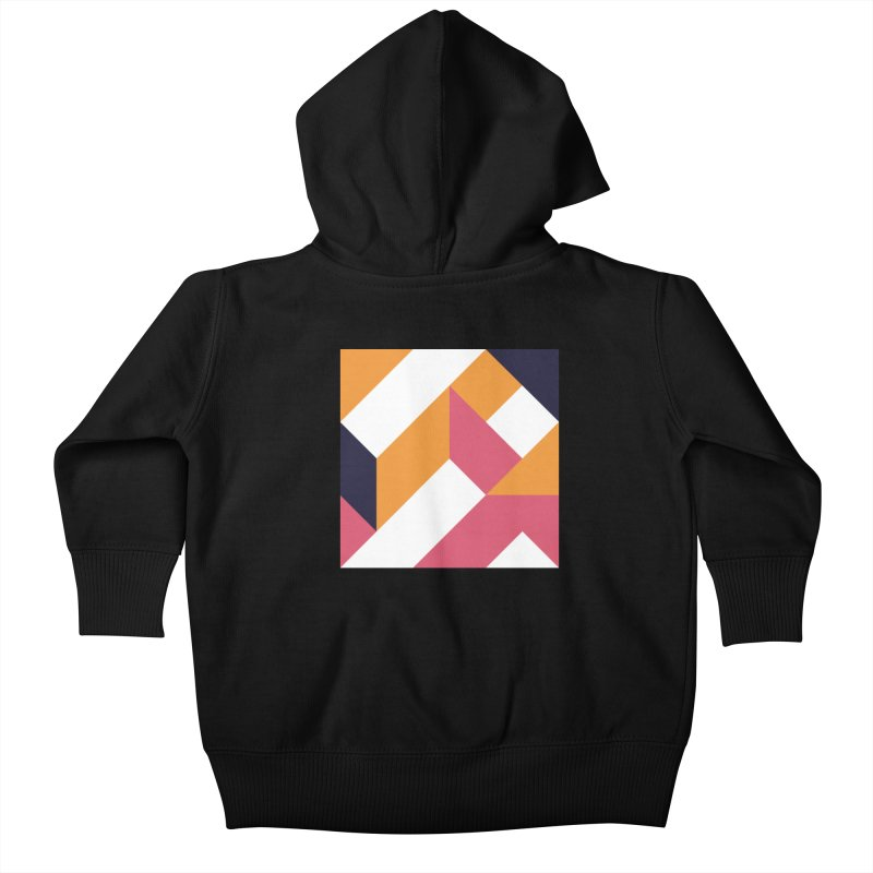 Geometric Design Series 4, Poster 5 Kids Baby Zip-Up Hoody by Madeleine Hettich Design & Illustration