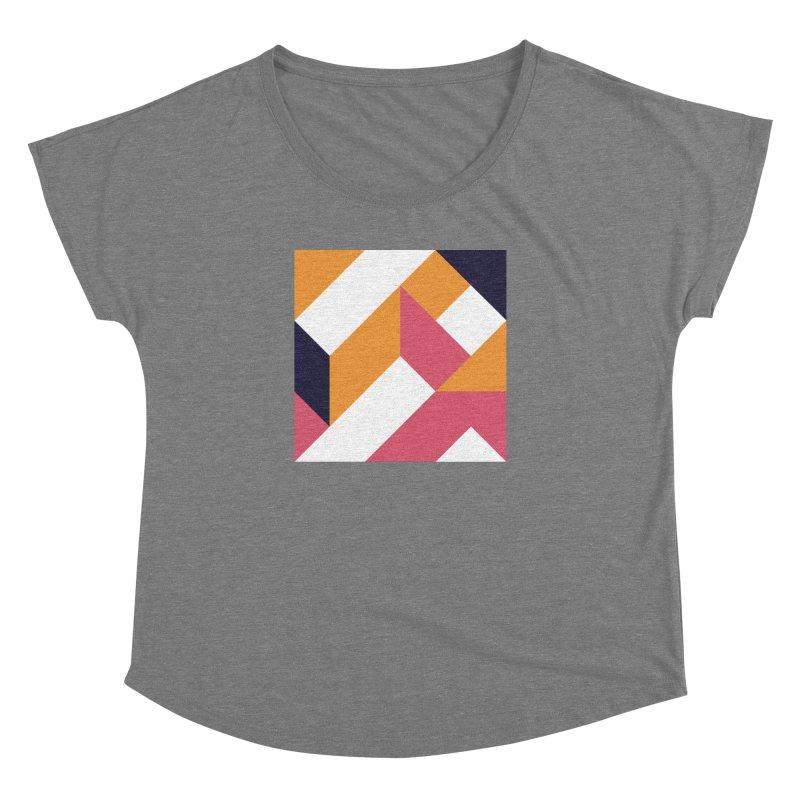 Geometric Design Series 4, Poster 5 Women's Dolman Scoop Neck by Madeleine Hettich Design & Illustration