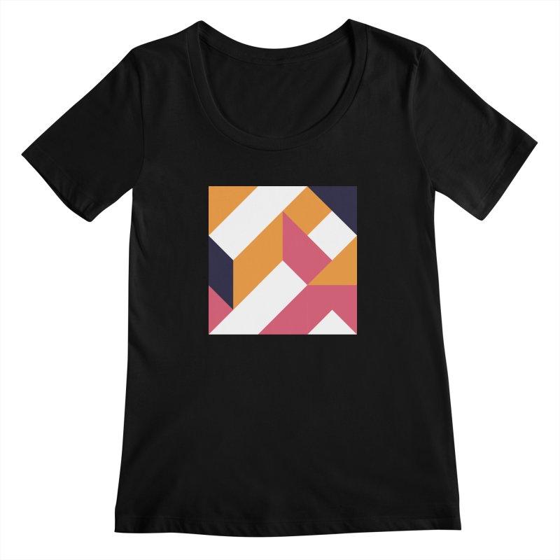 Geometric Design Series 4, Poster 5 Women's Scoopneck by Madeleine Hettich Design & Illustration