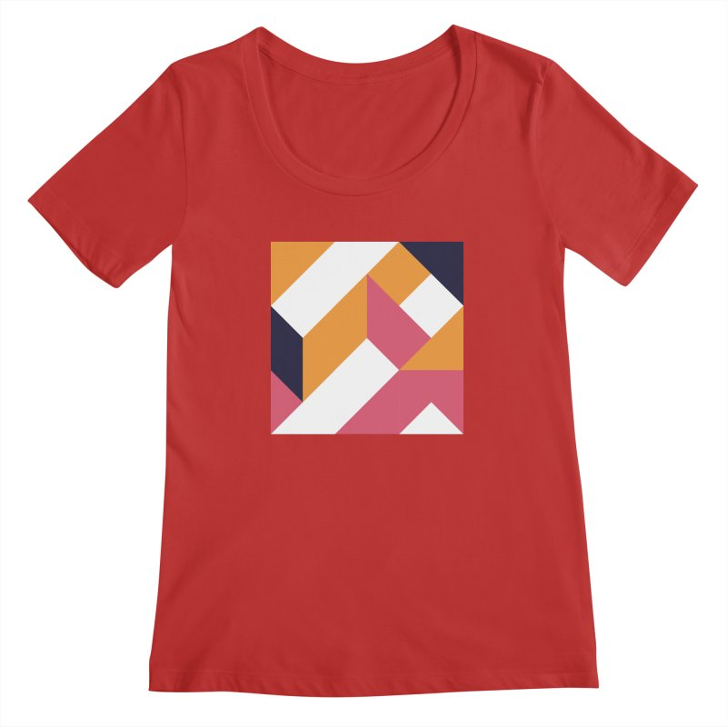 Geometric Design Series 4, Poster 5 Women's Regular Scoop Neck by Madeleine Hettich Design & Illustration