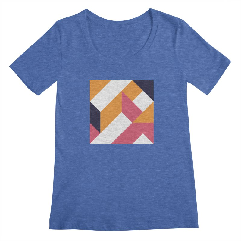 Geometric Design Series 4, Poster 5 Women's Scoopneck by Madeleine Hettich Design & Illustration