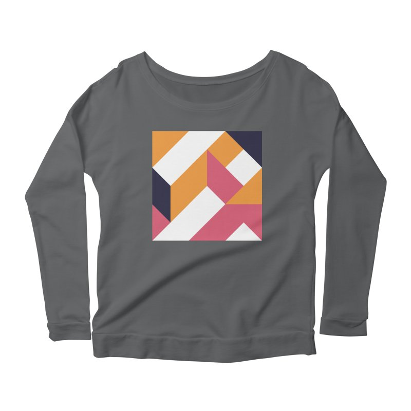 Geometric Design Series 4, Poster 5 Women's Scoop Neck Longsleeve T-Shirt by Madeleine Hettich Design & Illustration