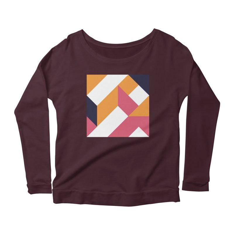 Geometric Design Series 4, Poster 5 Women's Scoop Neck Longsleeve T-Shirt by Madeleine Hettich Design & Illustration