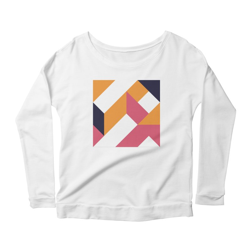 Geometric Design Series 4, Poster 5 Women's Longsleeve Scoopneck  by Madeleine Hettich Design & Illustration
