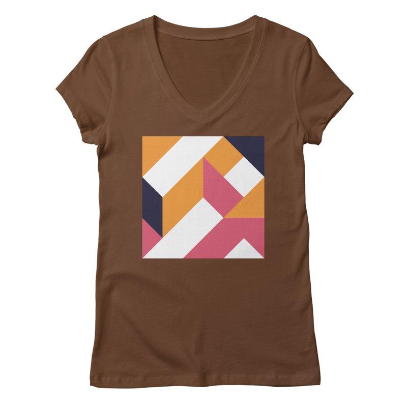 Geometric Design Series 4, Poster 5 Women's V-Neck by Madeleine Hettich Design & Illustration