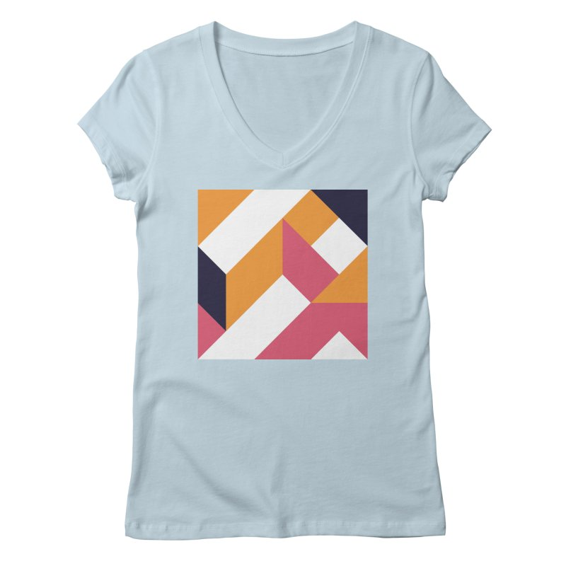 Geometric Design Series 4, Poster 5 Women's Regular V-Neck by Madeleine Hettich Design & Illustration