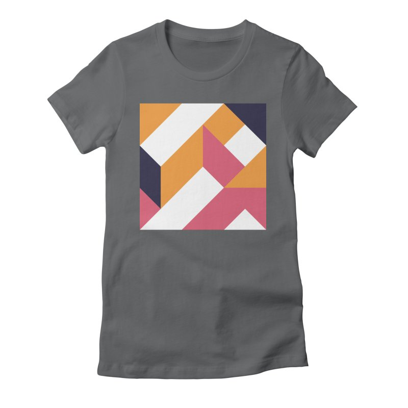 Geometric Design Series 4, Poster 5 Women's Fitted T-Shirt by Madeleine Hettich Design & Illustration